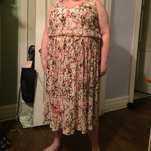 Lane Bryant tank dress with waist definition